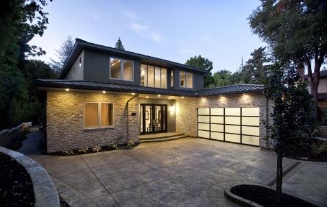 auto gerelateerde architectuur de moderne garagedeuren